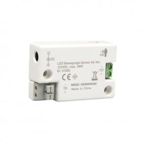 LED Bewegungs-Sensor bis 3m, 12v/DC, max. 36W-35027
