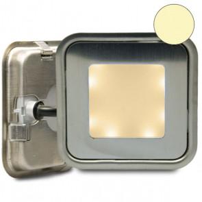 "LED Bodenstrahler ""EASY-LIGHT-OUT"", quadr., IP67, Edelstahl, warmweiss-32750"