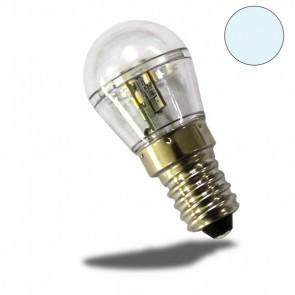 E14 LED Birne, 16SMD, 1 Watt, klar, kaltweiss-32470