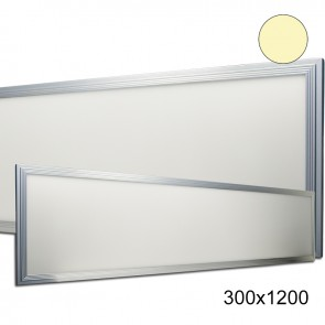 LED Panel 300x1200 diffuse, 50 Watt, Gehäuse silber, warmweiss, dimmbar-35215
