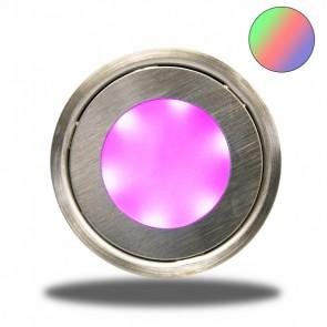 """LED Bodenstrahler """"EASY-LIGHT"""", rund, IP54, edelstahl, RGB-32727"""