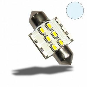 LED Soffitte 31mm 10-30V/DC, 6+6SMD, 0,7Watt, Kaltweiß-32527