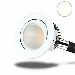LED Einbaustrahler COB 68, weiß, 8W, rund, neutralweiß-35012