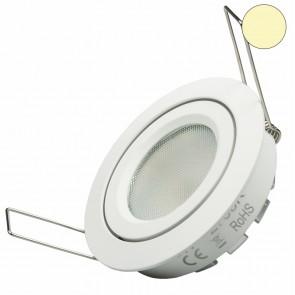 LED Einbaustrahler SMD, 8W, 140°, weiß, rund, warmweiß, dimmbar-35047