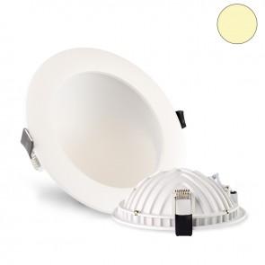 LED Einbauleuchte Moon, 12W, weiß, dimmbar, warmweiß, inkl. Trafo-35600