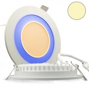 """LED Doppel Ring Einbaustrahler 2-farbig """"WARMWEIß/BLAU"""", 15W, weiß-35296"""