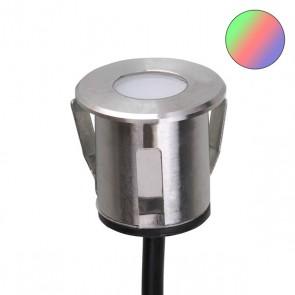 LED Einbaustrahler, Edelstahl, 0,6 Watt, IP68, 12V/DC, RGB-35226