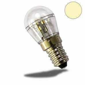 E14 LED Birne, 16SMD, 1 Watt, klar, warmweiss-32468