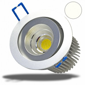 LED Einbaustrahler COB rund, 10W, 60°, neutralweiß, dimmbar-32595