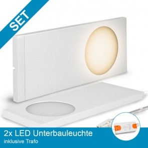 SET 2x LED Unterbauleuchte weiss + Trafo-39311