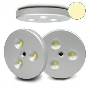 LED Einbau-/Aufbauleuchten-Set 3x3W Leuchtenset, inkl. Trafo/Kabel, warmweiß-32296