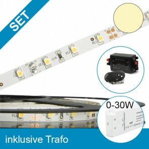 SET LED STD Flexband warmweiss + 30W Trafo + Controller-39286