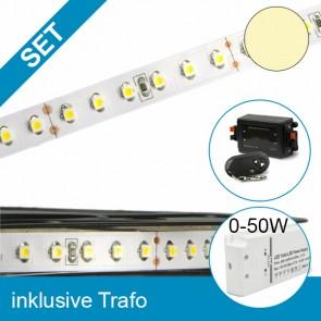 SET LED STD Flexband warmweiss + 50W Trafo + Controller-39292