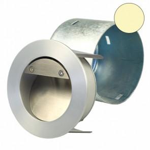 LED Einbauleuchte Rund IP44, Edelstahl, 1W, Warmweiss-32609