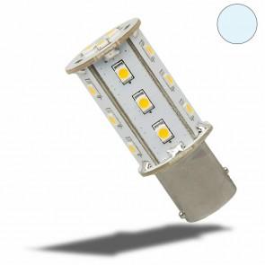 LED BAY15D Leuchtmittel, 10-30V/DC, 18SMD, 2,4 Watt, kaltweiss-35153