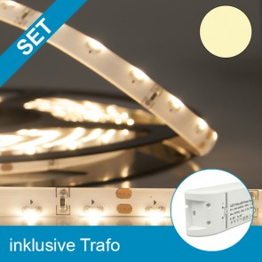 SET LED SILIKON-Sideled-Flexband warmweiss + 75W Trafo-39250