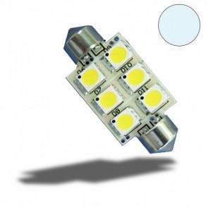 LED Soffitte 42mm, 10-30V/DC, 6SMD, 1 Watt, Kaltweiß-32513