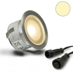 "LED Bodenstrahler ""EASY-LIGHTEYE"", rund, IP67, Edelstahl, warmweiss-32753"