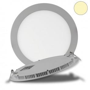 """LED Downlight """"ultra flach"""" silber, dimmbar, 18W, 120°, inkl. Driver, warmweiß 3-35456"""