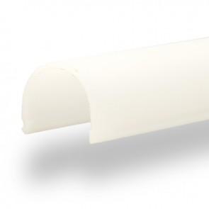 """Abdeckung rund, milky für Profil """"GIP"""", L: 2000mm-32741"""