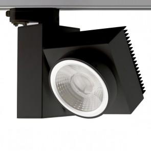 3-PH Schienen-Strahler eckig, fokussierbar, 30W, 30°-50°, schwarz matt, warmweiß-35315