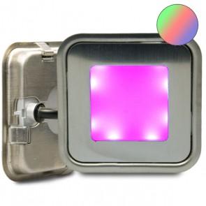 """LED Bodenstrahler """"EASY-LIGHT-OUT"""", quadr., IP67, Edelstahl, RGB-32746"""
