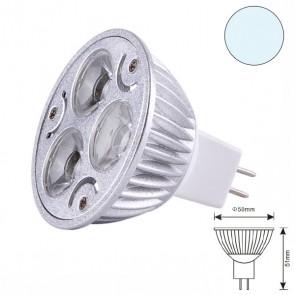 LED-Spot Strahler MR16 3x1 watt, weiss, dimmbar, Typ1-31109