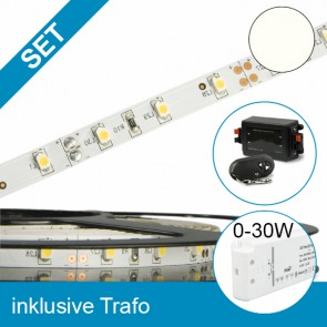 SET LED STD Flexband neutralweiss + 30W Trafo + Controller-39285